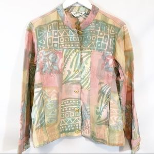 Orvis Pastel colored jean jacket size S